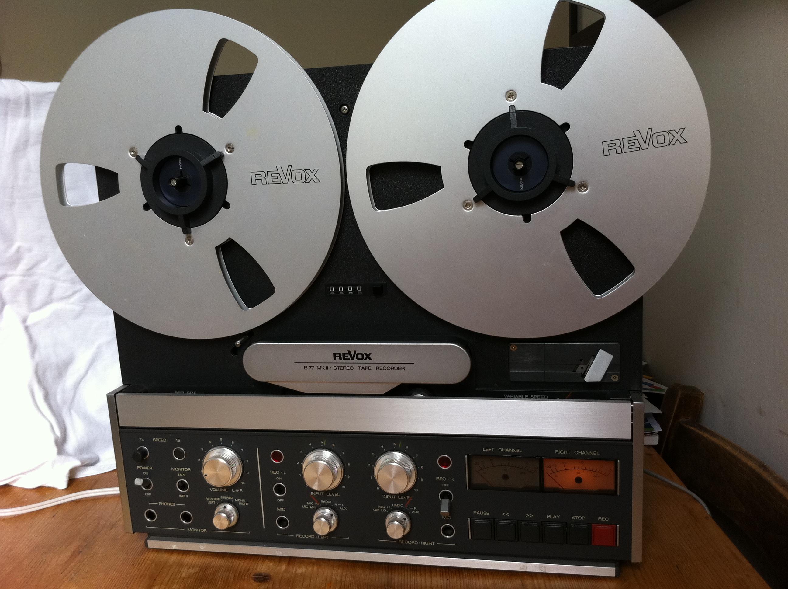 Revox B77 Mark 2 The Garage Recording Studio London Uk